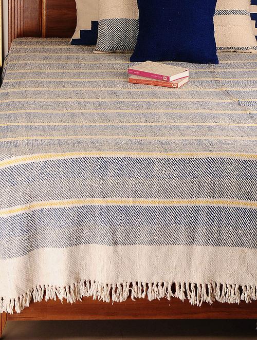 Handspun Multicolor Stripes Bed Cover 100in X 100in