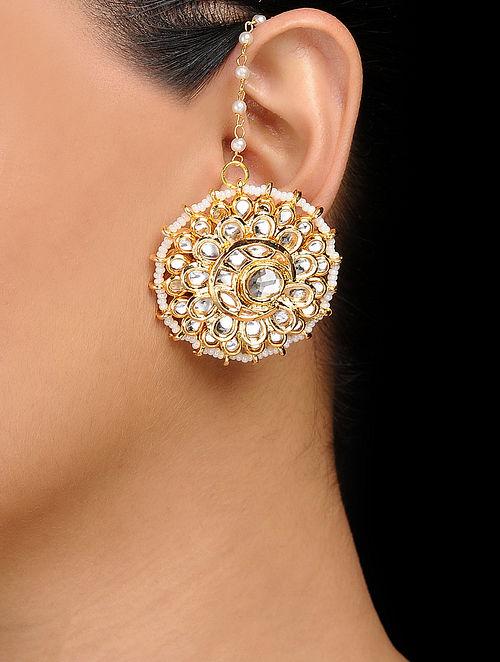 c6b773d99 Buy Classic Gold Tone Kundan Inspired Stud Earrings Online at ...