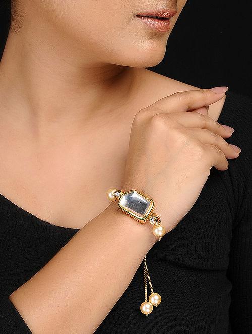 Classic Gold Tone Kundan Inspired Bracelet