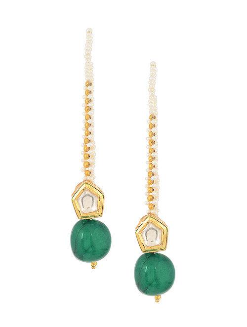 8056b42f2 Buy Green Gold Tone Kundan Inspired Stud Earrings Online at ...