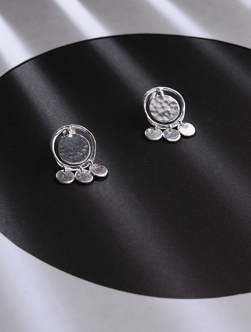 Classic Silver Handcrafted Stud Earrings