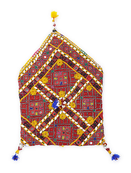 Buy Multicolored Cotton Bhujki Bag With Vintage Sindhi Embroidery