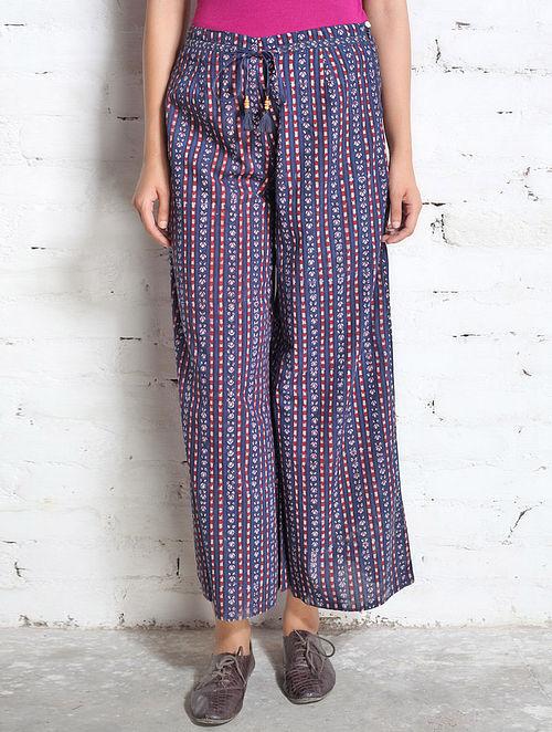 ac9069da44ede9 Buy Indigo-Dye Panelled Cotton Culotte Pants Online at Jaypore.com