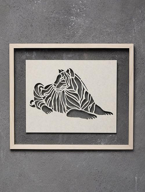 Tiger Saanjhi Wall Art - 11.7in x 13.7in
