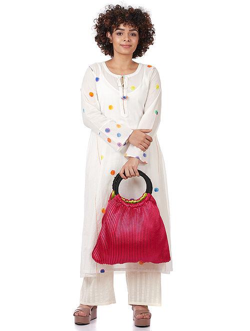 Fuschia Silk Shoulder Bag
