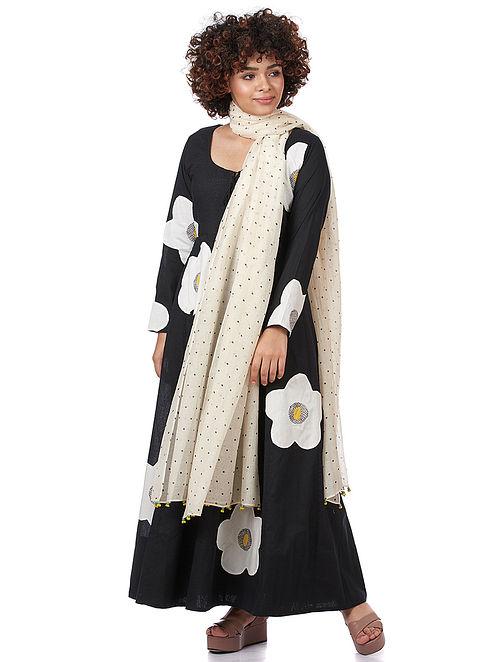 Natural Printed Silk-Cotton Dupatta