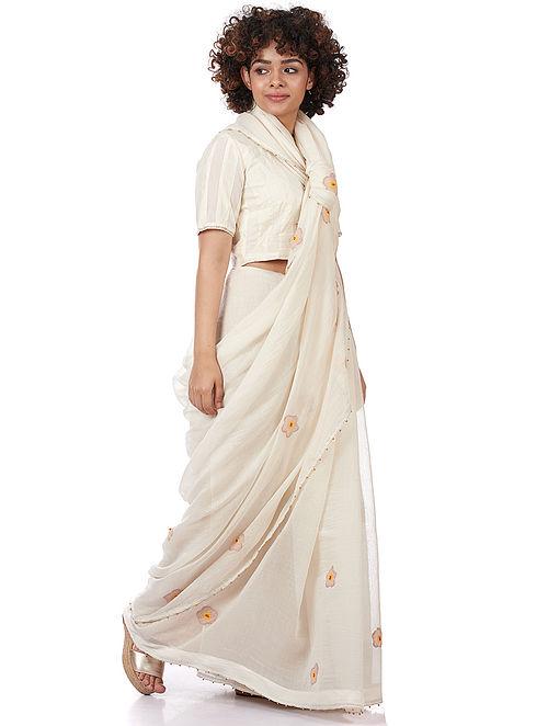 Natural Printed Silk-Cotton Saree