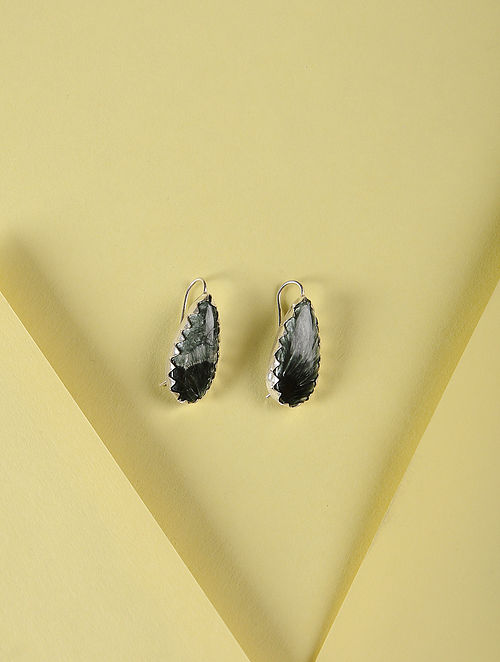 Serpentine Silver Earrings