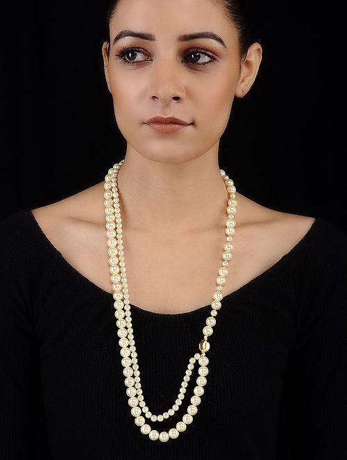 Shell Pearl Beaded Necklace