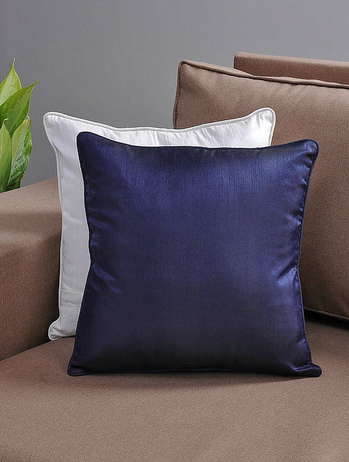Navy Cushion Cover with Cotton Lining
