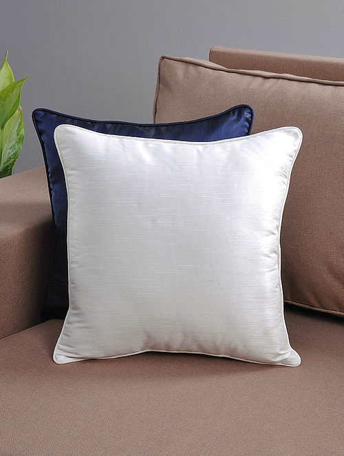 White Cushion Cover with Cotton Lining