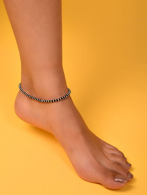 Black Silver Anklet