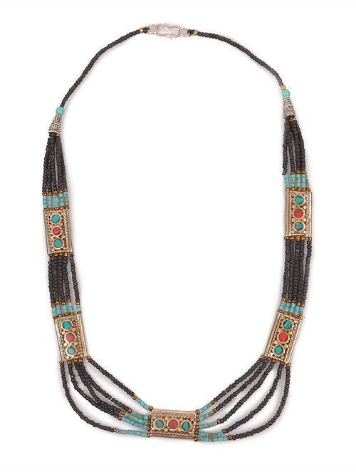 Black Beaded Tribal Necklace
