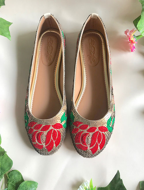 Multicolored Handcrafted Embroidered Ballerinas