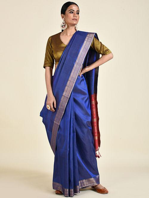 Blue Handwoven Silk Saree
