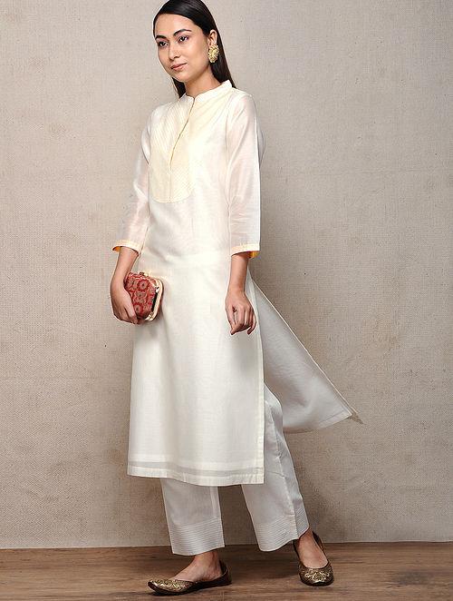Ivory Cotton Silk Kurta
