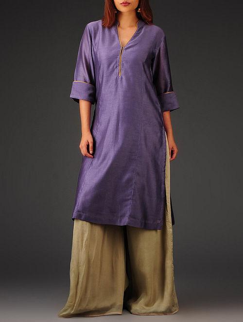 Purple Princess line Chanderi Kurta