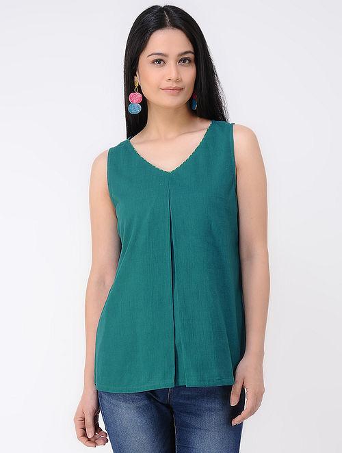 Green Cotton Mul Top