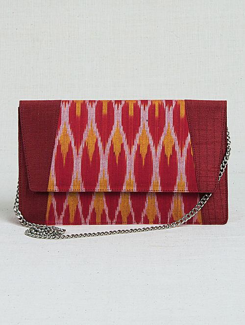 ec859af23cc Buy Red-Orange Ikat Metal Chain Sling Bag Online at Jaypore.com