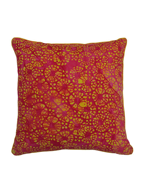 Flower Batik Cushion Cover - 16in x 16in