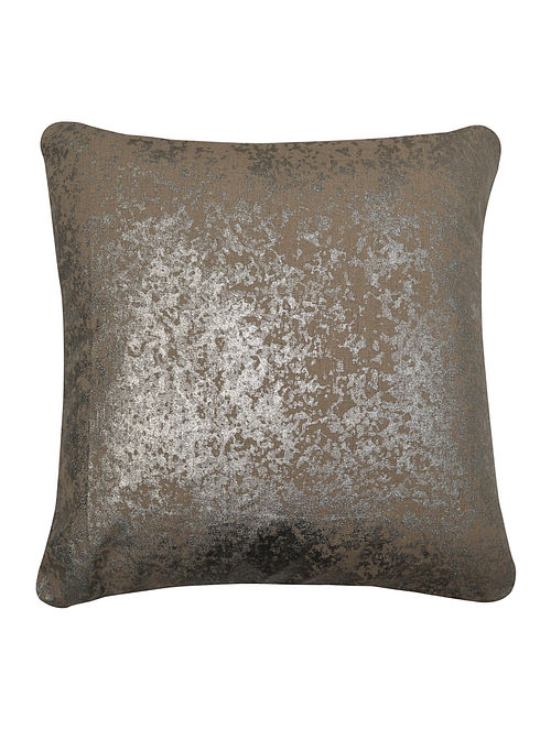 Silver Foil Printed Cushion Cover - 16in x16in