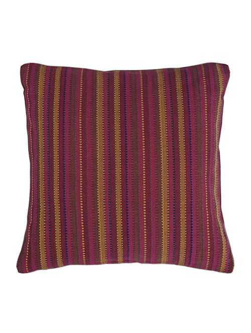 Thin Stripes Cushion Cover with Soild Piping 16in X 16in