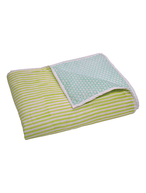 Double Sided Striped Printed Quilt