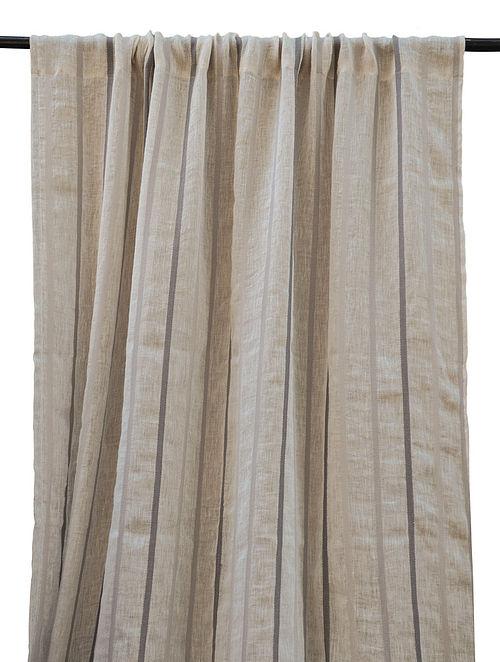Yarn Dyed Thin Stripe Curtain 84in x 48in