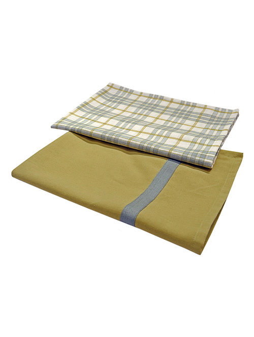 Check & Plain Kitchen Towels-Set of 2 28.5in x 20.5in