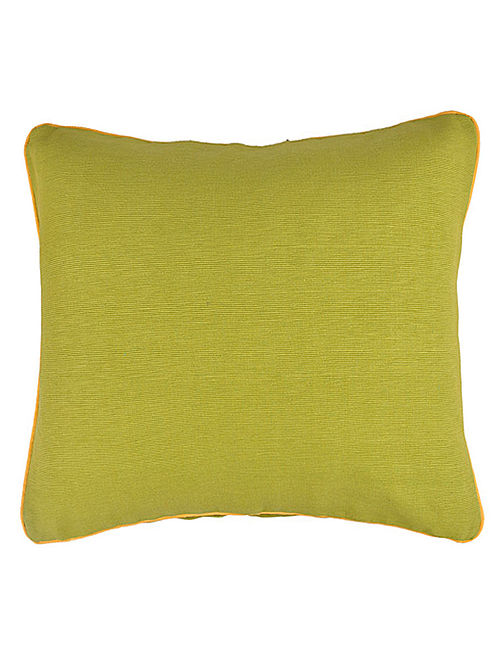 Green Cotton Bamboo Solid Cushion Cover 16in x 16in