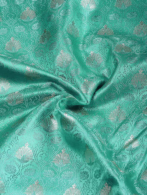 Green Benarasi Katan Silk Fabric