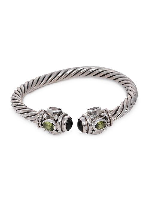Multicolored Tribal Silver Bracelet