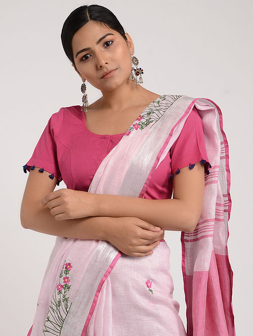 484c7bce365dee Buy Pink Cotton Blouse with Tassels Online at Jaypore.com