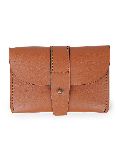 Brown Leather Card Holder