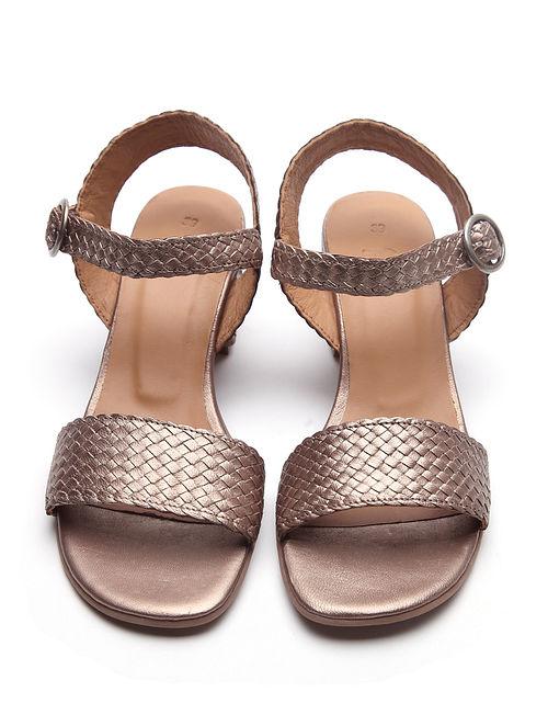 Bronze Handwoven Genuine Leather Sandals