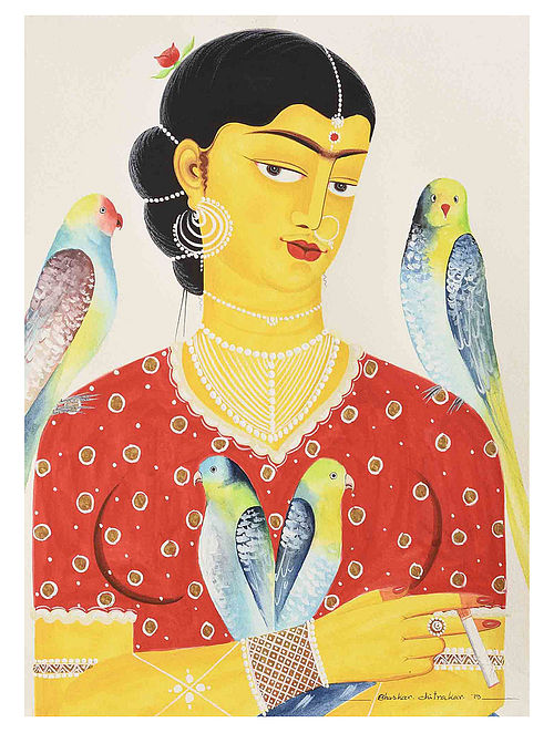 Kalighat Pattachitra Kali-Kahlo 27 Digital Print on Archival Paper - 8.5in x 11.5in