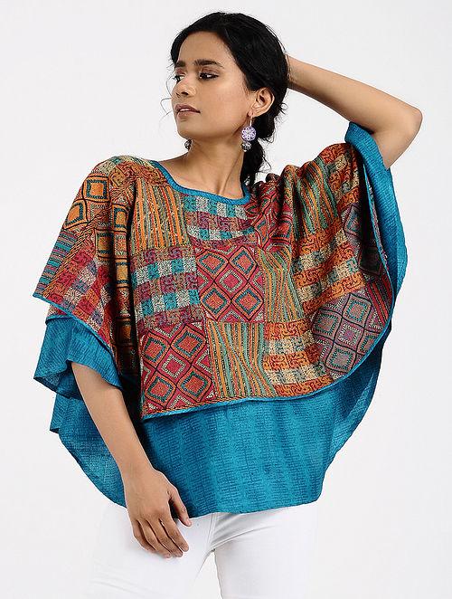 51ed0e544e54a Buy Multi Printed Tussar Silk Top Online at Jaypore.com