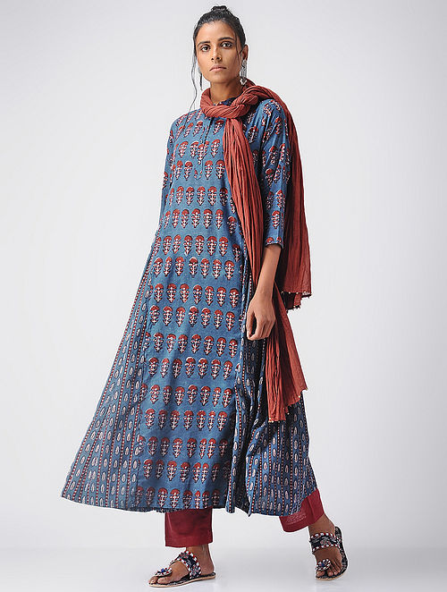Indigo-Madder Ajrakh Cotton Kurta