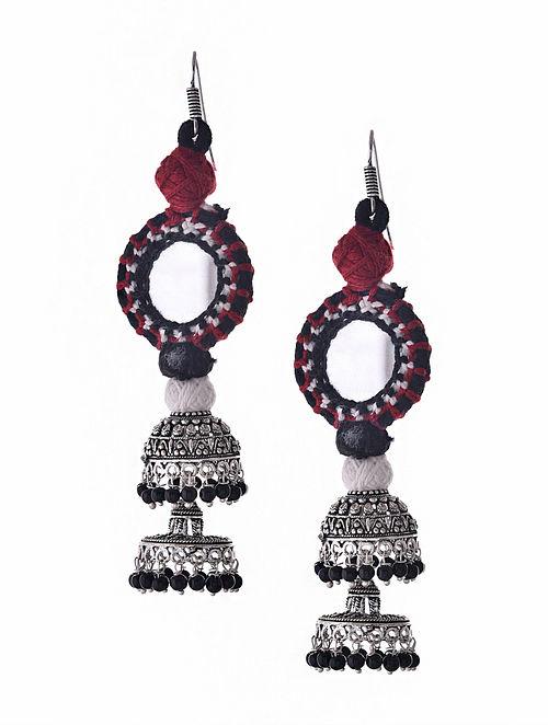 Multicolored Silver Tone Earrings