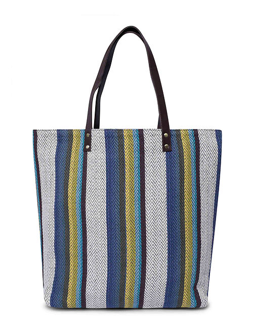 Multicolored Handcrafted Reversible Jacquard Tote Bag
