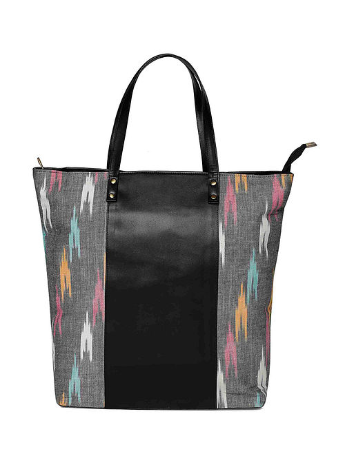 Multicolored Handcrafted Ikat Tote Bag