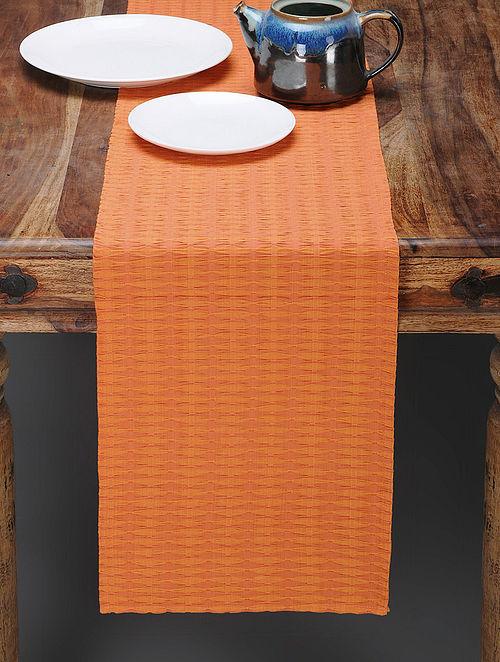 Peach Cotton Table Runner