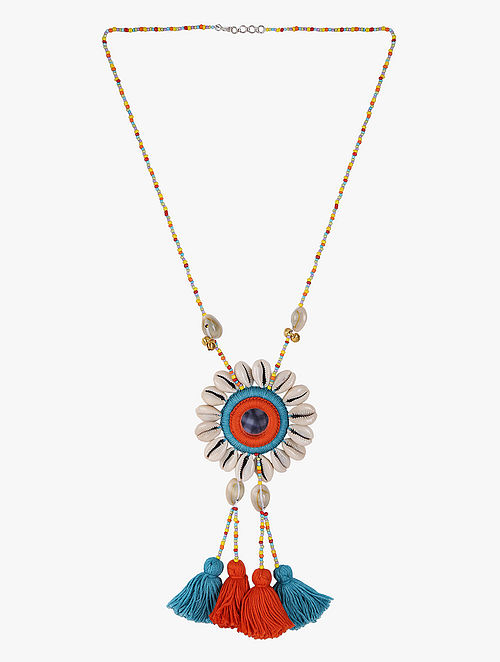 2915b7eea4e Buy White-Multicolored Necklace with Shells and Mirrors Online at ...
