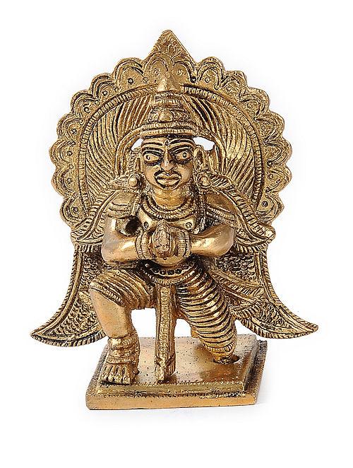 Brass Home Accent with Garuda Design (L:2in, W:3.1in, H:3.7in)