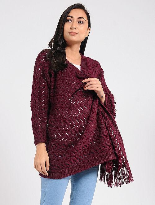 718df2ef889 Buy Red Wool Cape Online at Jaypore.com