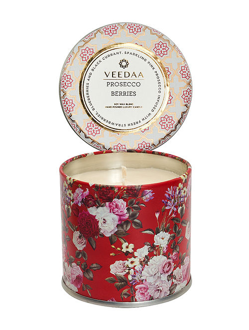 Prosecco Berries Mason Tin Scented Candle (Burns 25+ Hours)