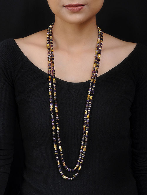 Amethyst Gold Plated Handcrafted Necklace