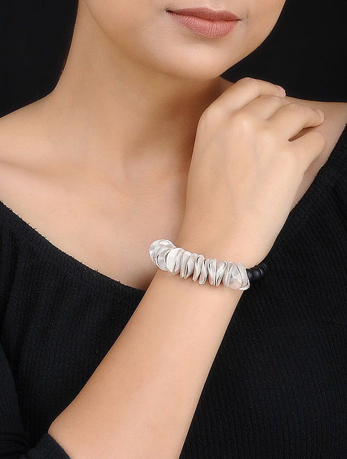Silver Plated Handcrafted Beaded Bracelet
