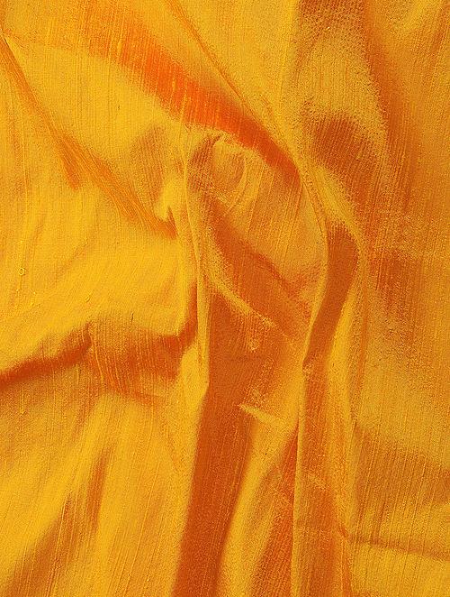 Yellow Raw Silk Fabric