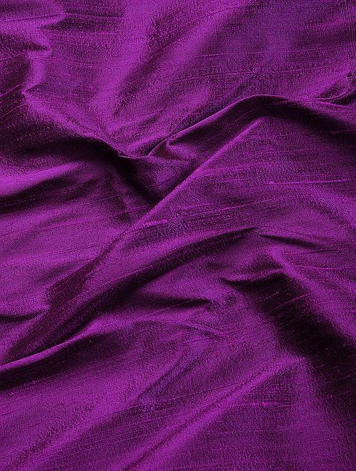 Purple Raw Silk Fabric